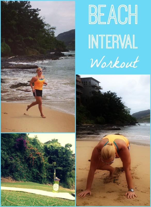beach interval workou