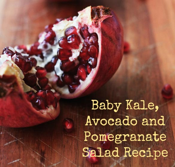 Pomegranite-Baby-Kale-Salad