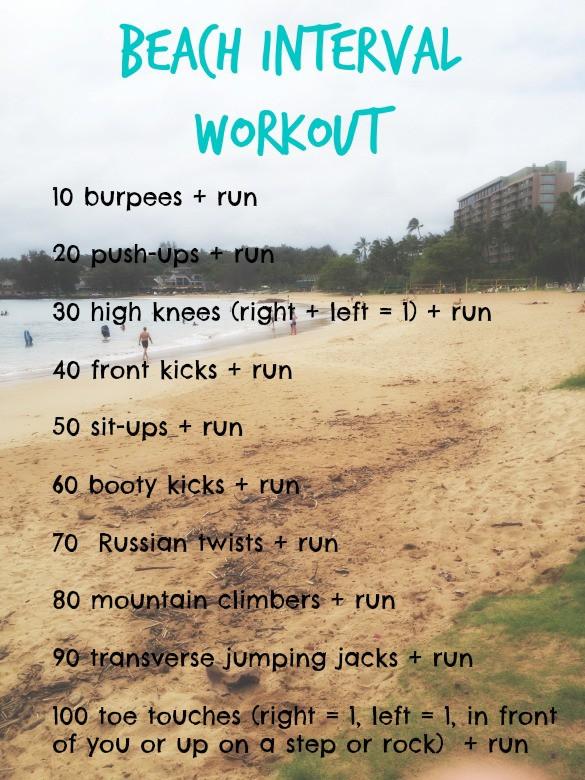 beach interval mountain workout