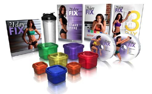 21-Day Fix Kit with all the containers and accessories to go with it.