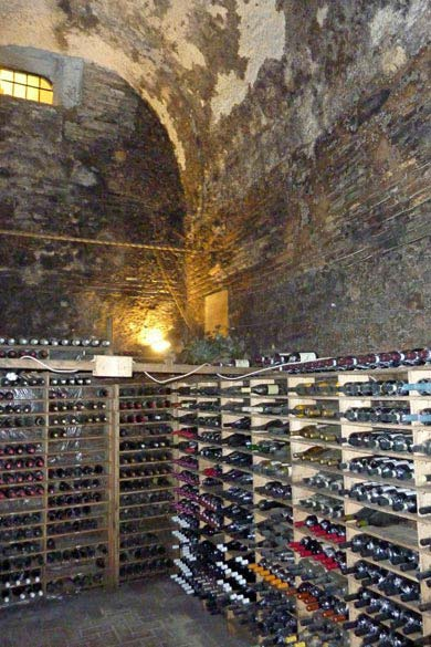 Ancient wine cellar in Italy