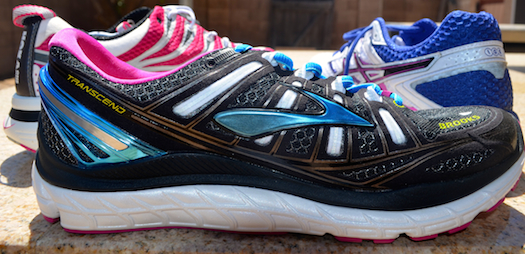 The Brooks Transcend features an 8-mm heel-toe drop.