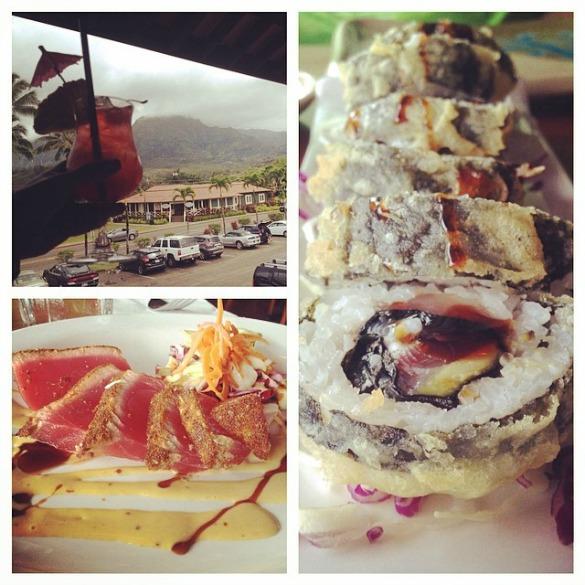 sushi in hanalei