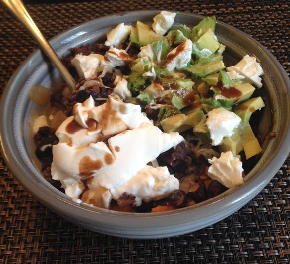 quinoa bowl with avocado