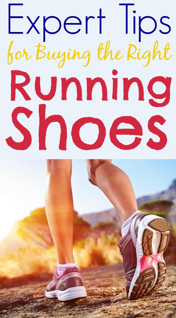 running shoes on mountain