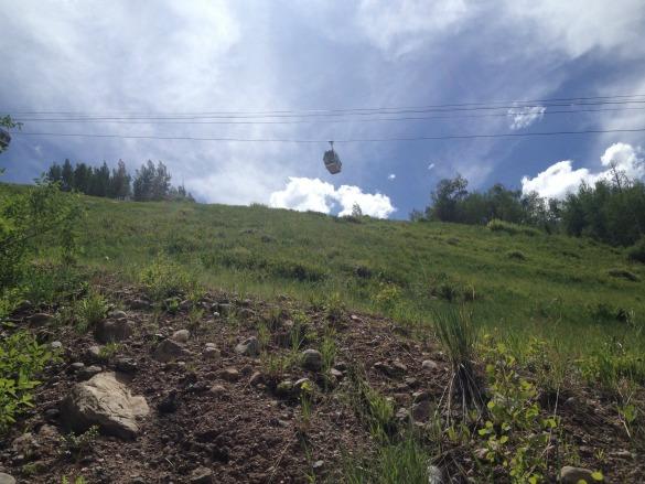 Vail ski lift in summer