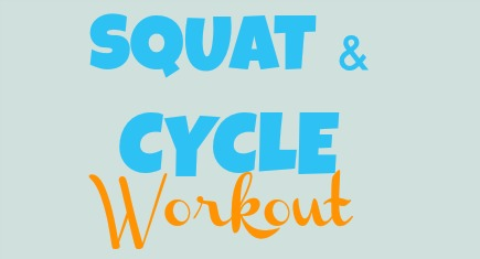 squat and cycle workout