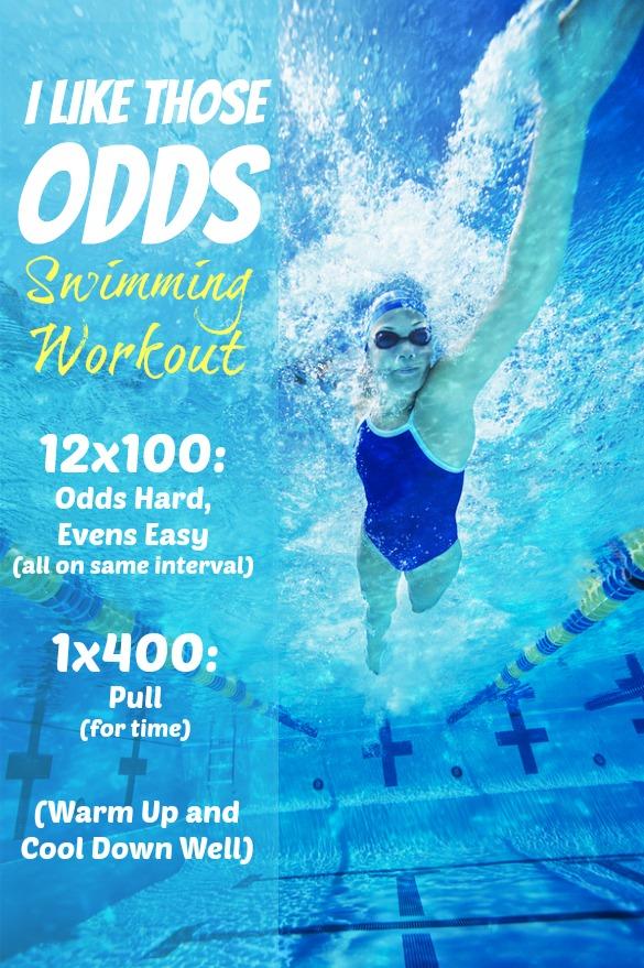 woman swim workout