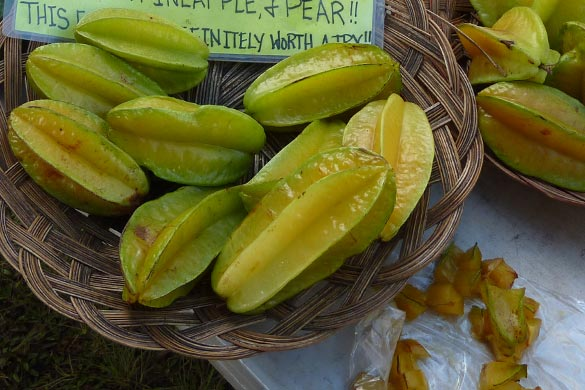 Star fruit taste like combination of pineapple and pear.