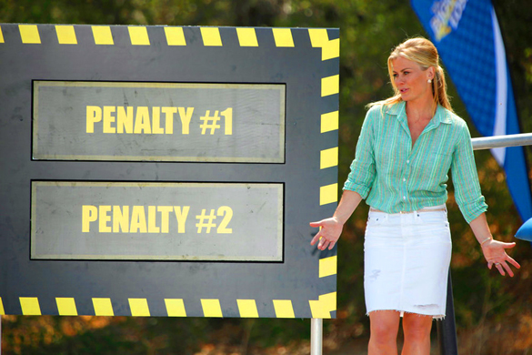Penalty 1: clean the house. Penalty 2: Trip to Vegas. Whaaaa? Credit: Tyler Golden/NBC