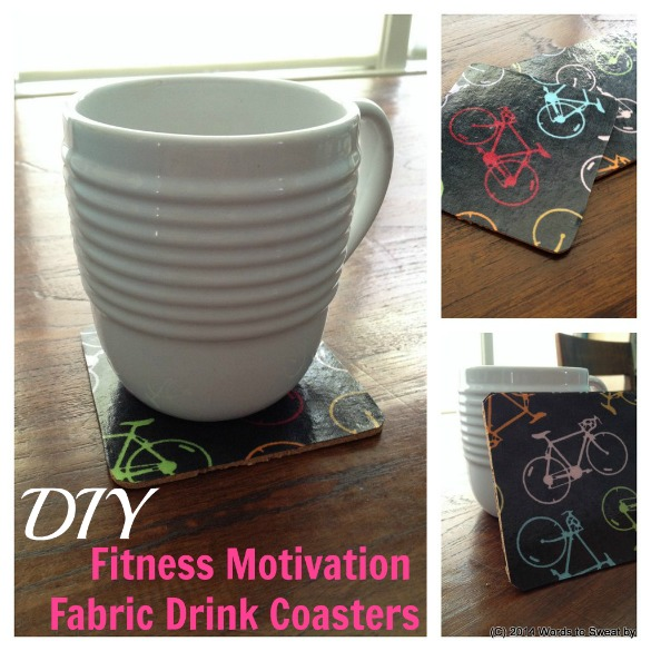 Diy drink coasters that boost your fitness motivation for Best coasters for sweaty drinks