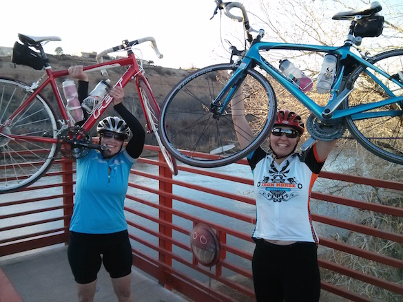 FBGs Hannah and Hanni can vouch: Bikes are rad! Photo: FBG Jessica