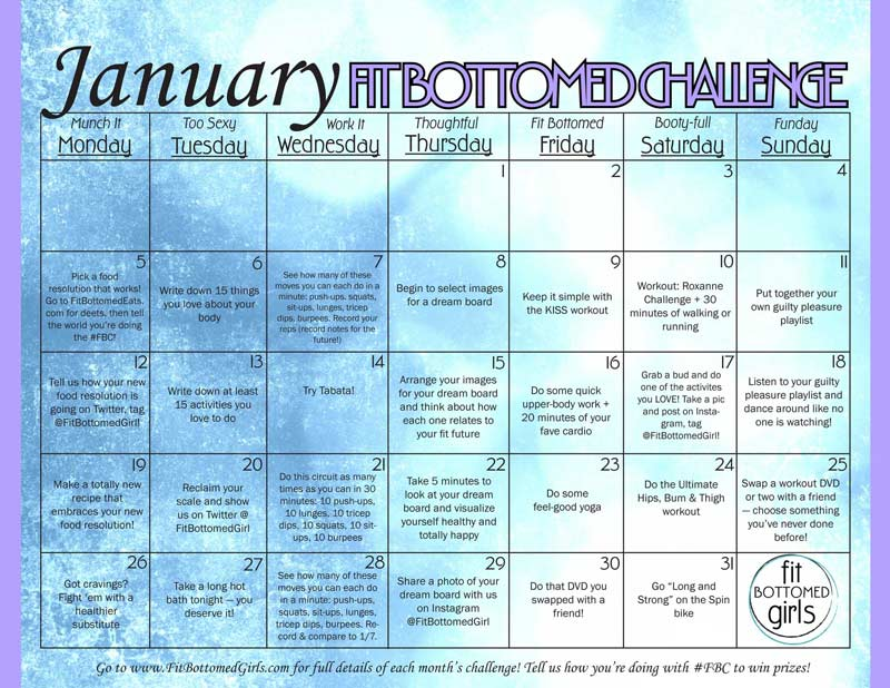 calendar-January-workout-schedule