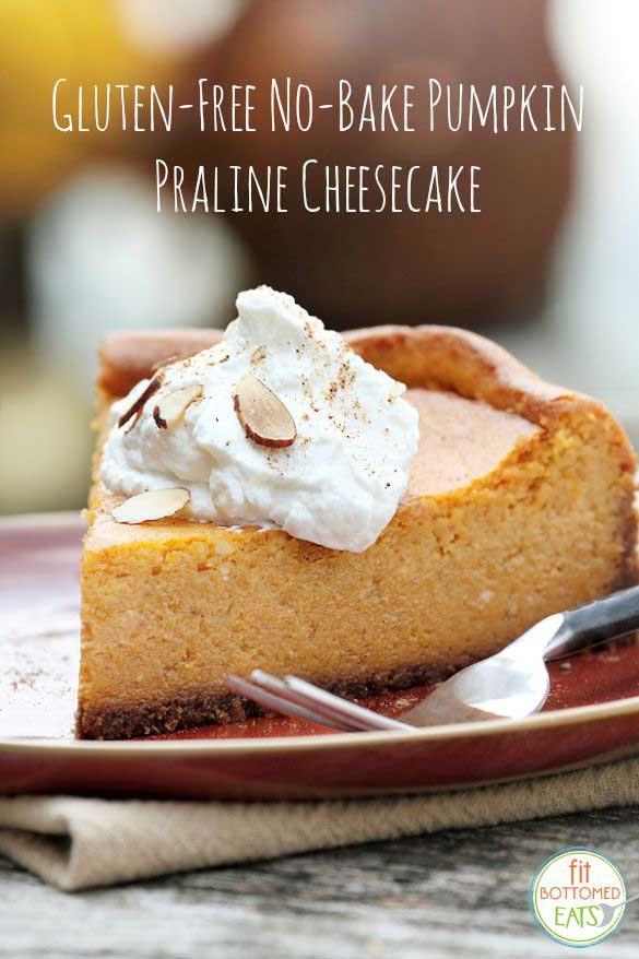 No Bake Pumpkin Praline Gluten Free Cheesecake