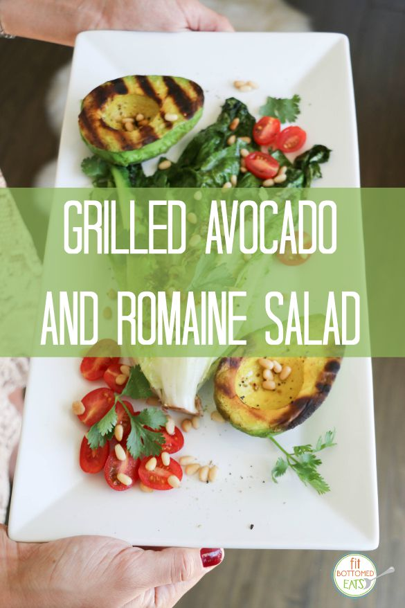 grilled avocado and romaine salad
