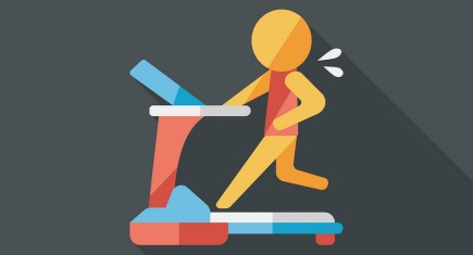 Treadmill Flat Icon With Long Shadow,eps10, Design elements for mobile and web applications, stylish colors of vector illustration.