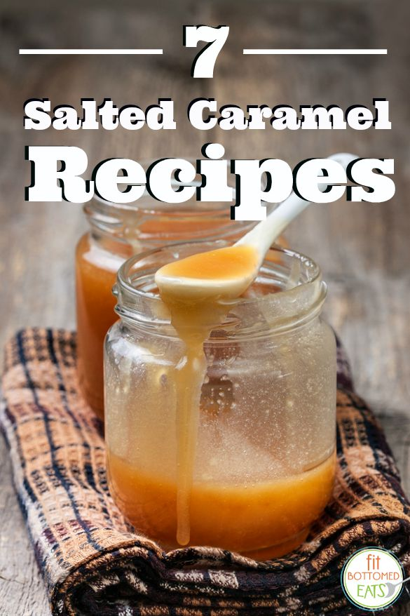 caramel sauce in a glass jar on a wooden background