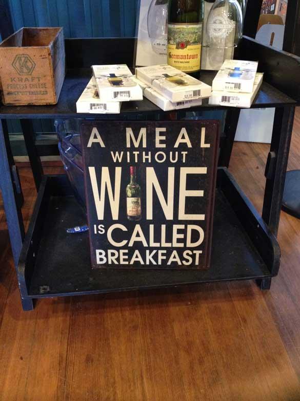 This was my favorite wine joke of the trip.