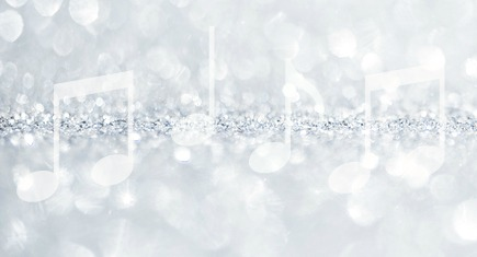 Christmas and New Year winter abstract silver and white sparkle glitter background with copy space