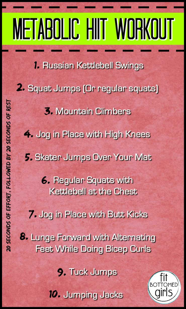 Metabolic HIIT Workout - Fit Bottomed Girls