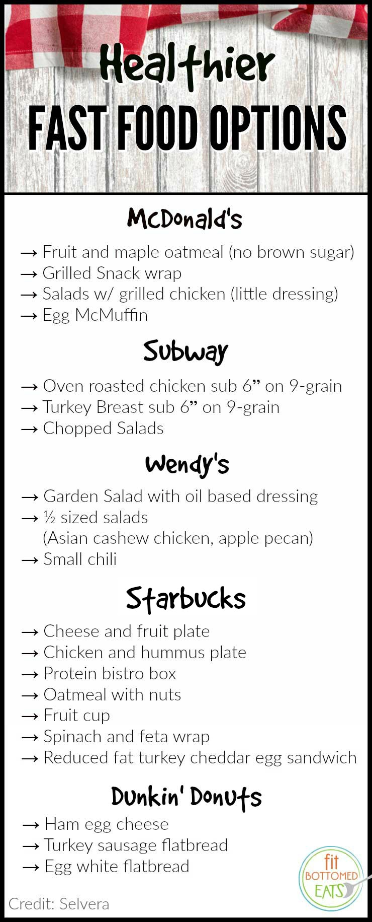 How To Choose Healthy Fast Food Options Fit Bottomed Girls