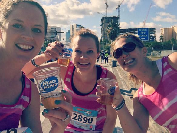 half marathon beer mile