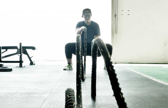 battle ropes real fitness photos