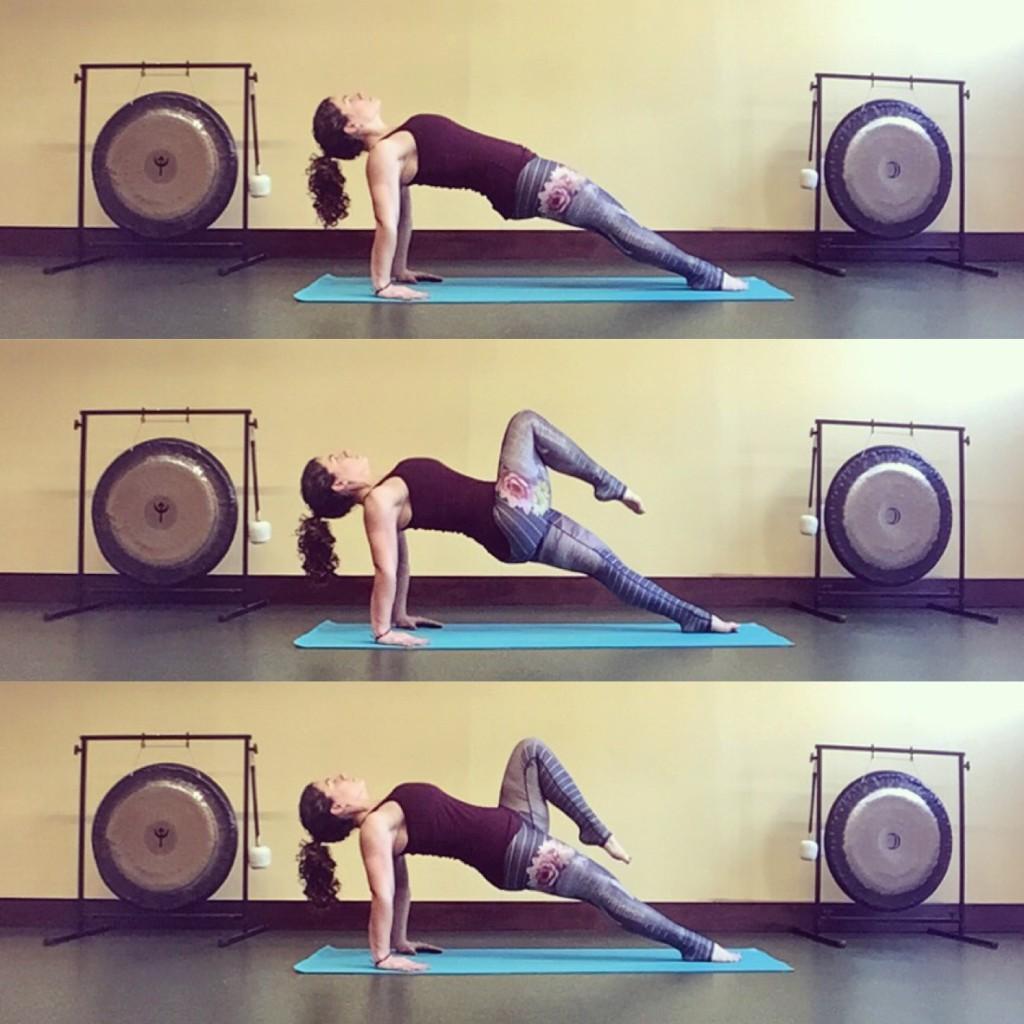 Reverse Plank Knee Ups