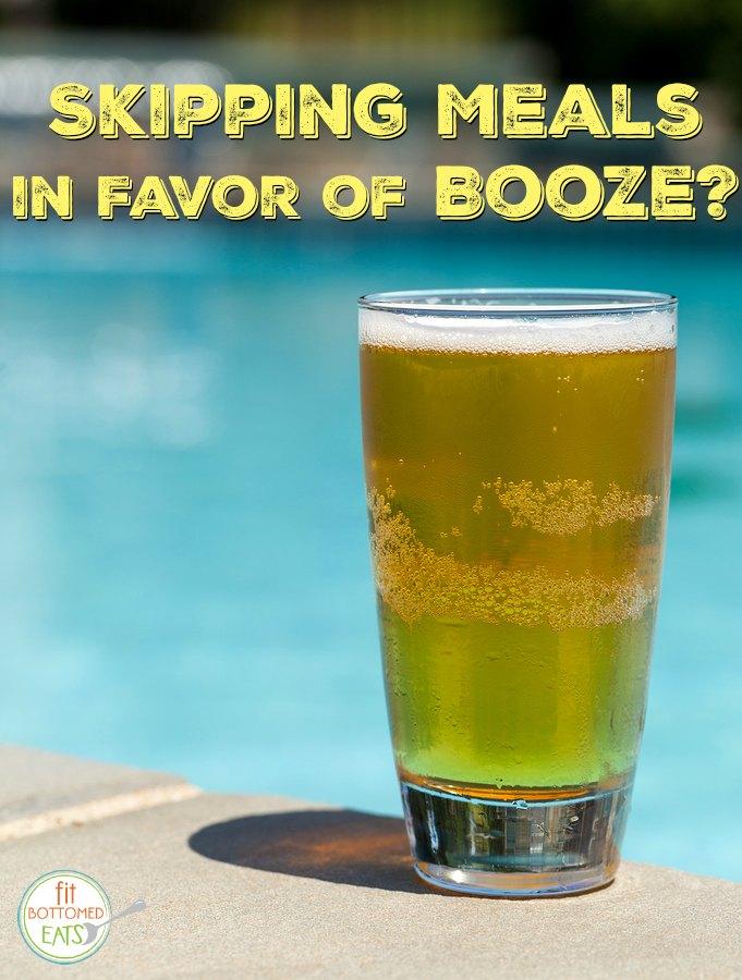 beer - drunkorexia
