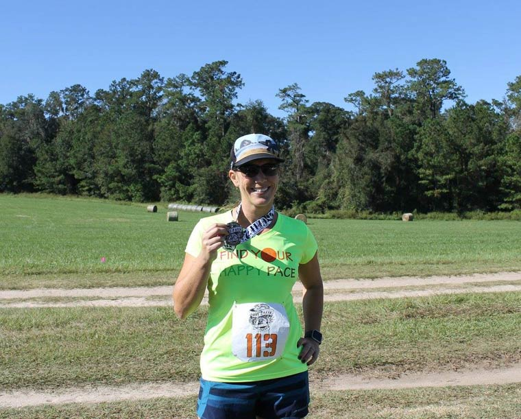 25k trail run medal