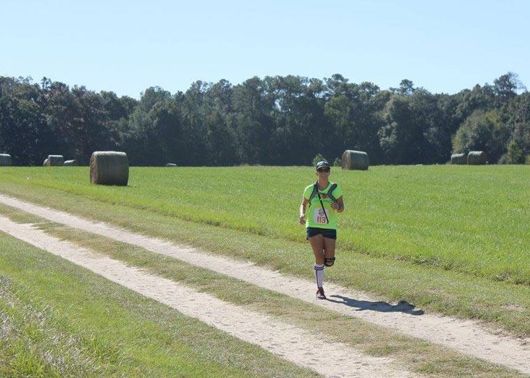 25k trail run coming in hot
