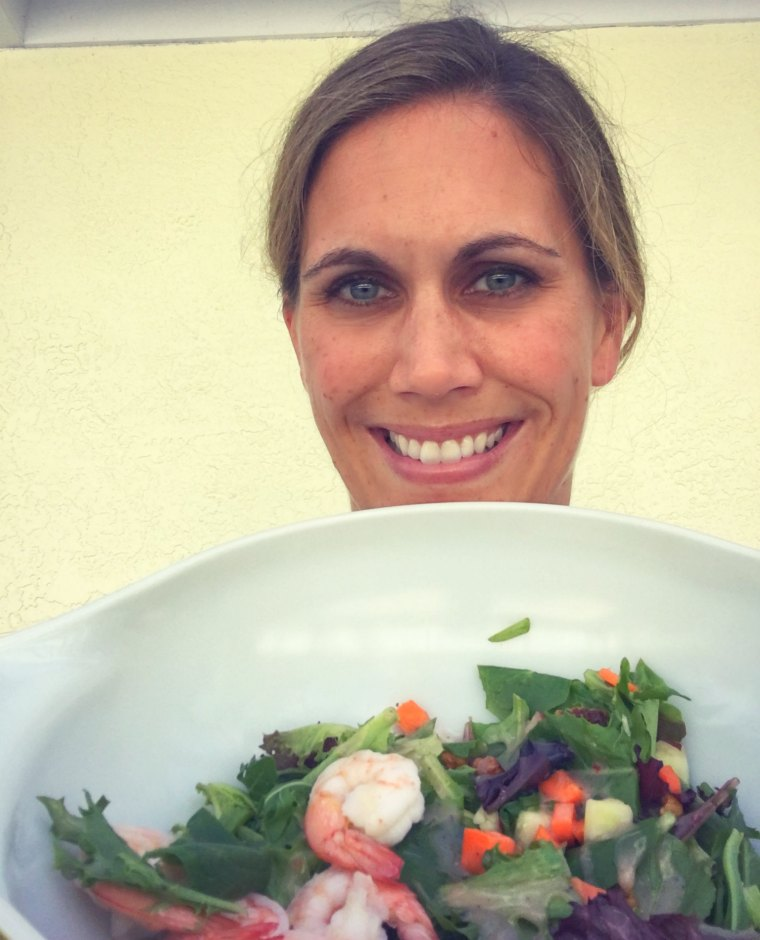 kristen and salad