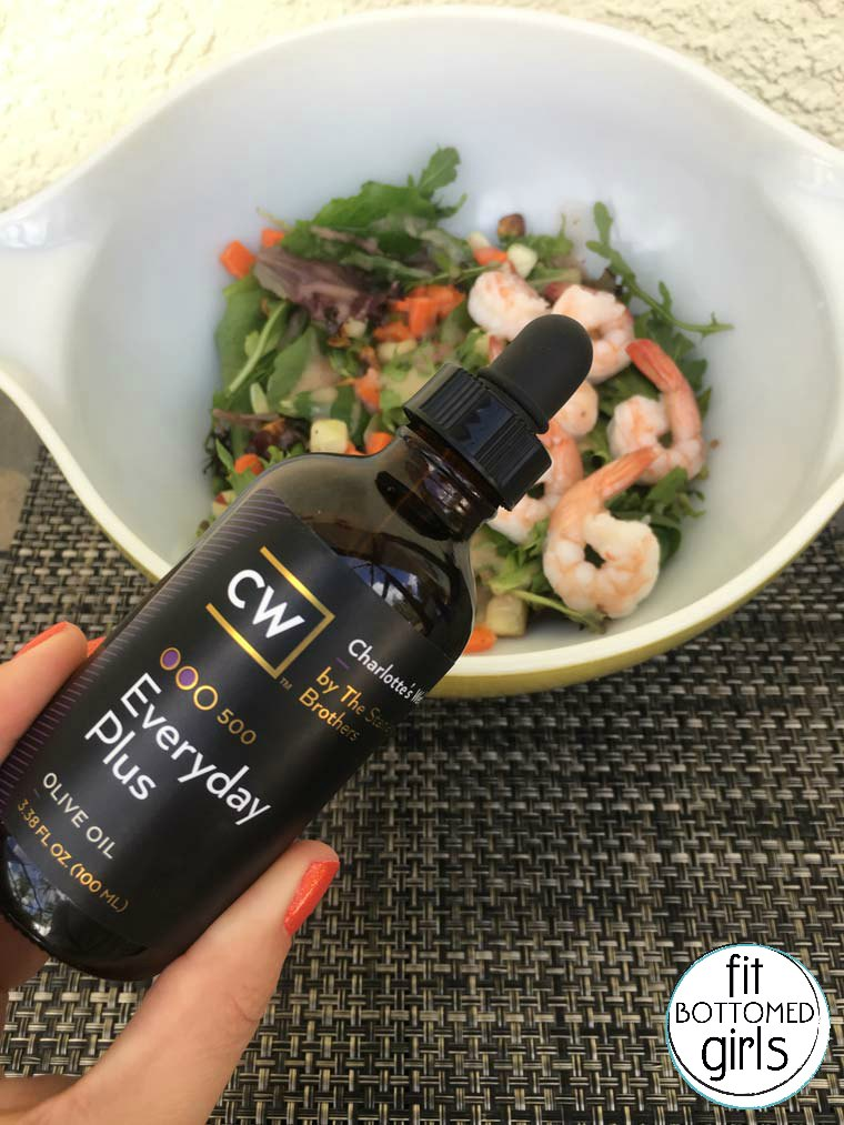 hemp oil extract and salad