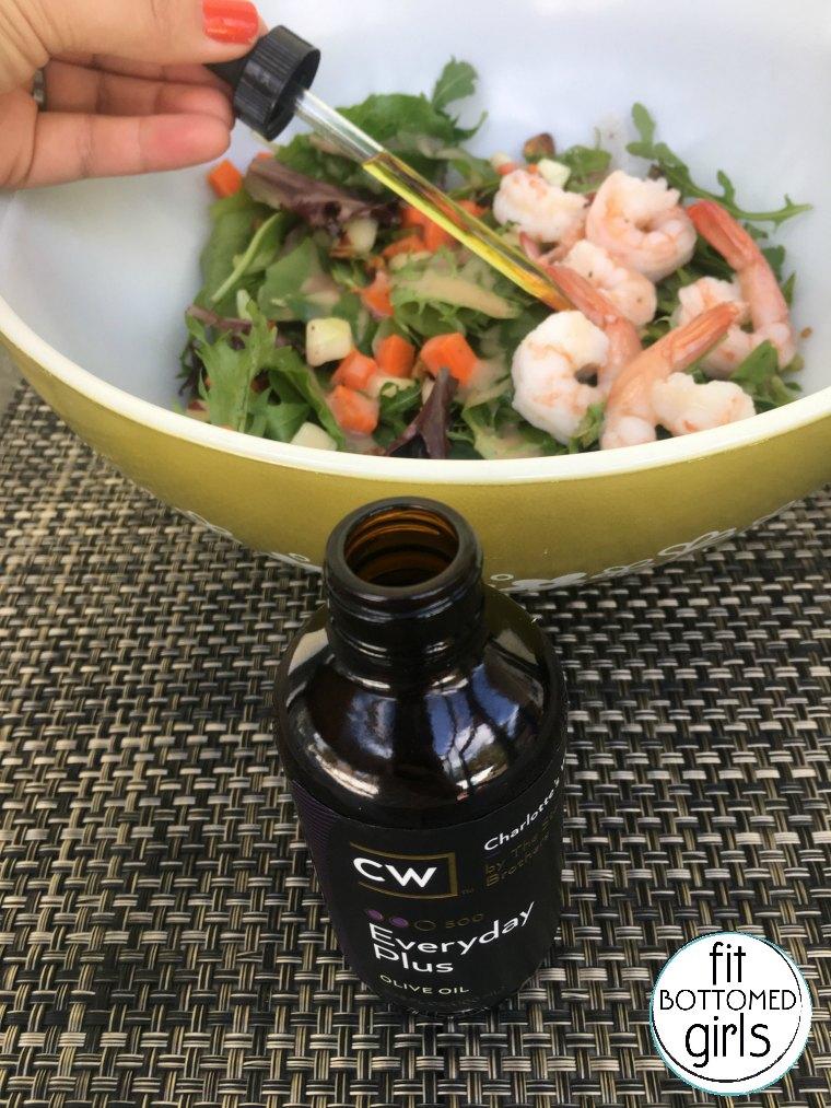 hemp oil extract and salad