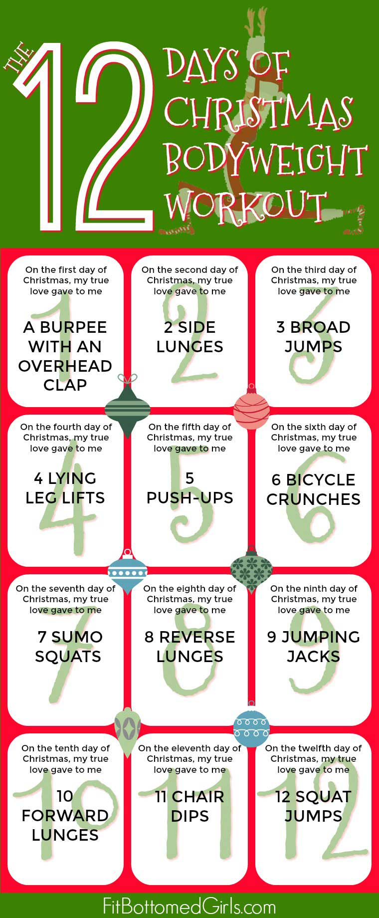 12 Days Of Christmas Crossfit Wod.The 12 Days Of Christmas Bodyweight Workout Fit Bottomed Girls