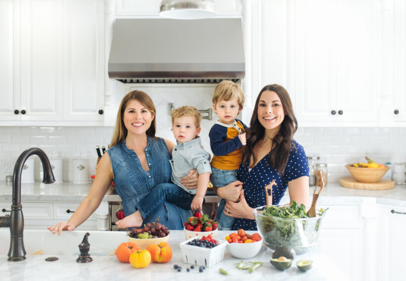 Alexandra and Whitney, authors of The Plant-Based Toddler